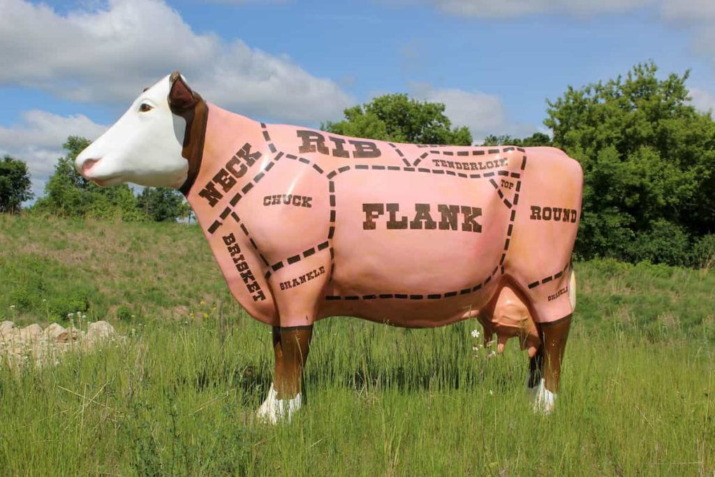 Cow With Cuts Labelled on Statue - What is Allowed on a Carnivore Diet - CarnivoreRX
