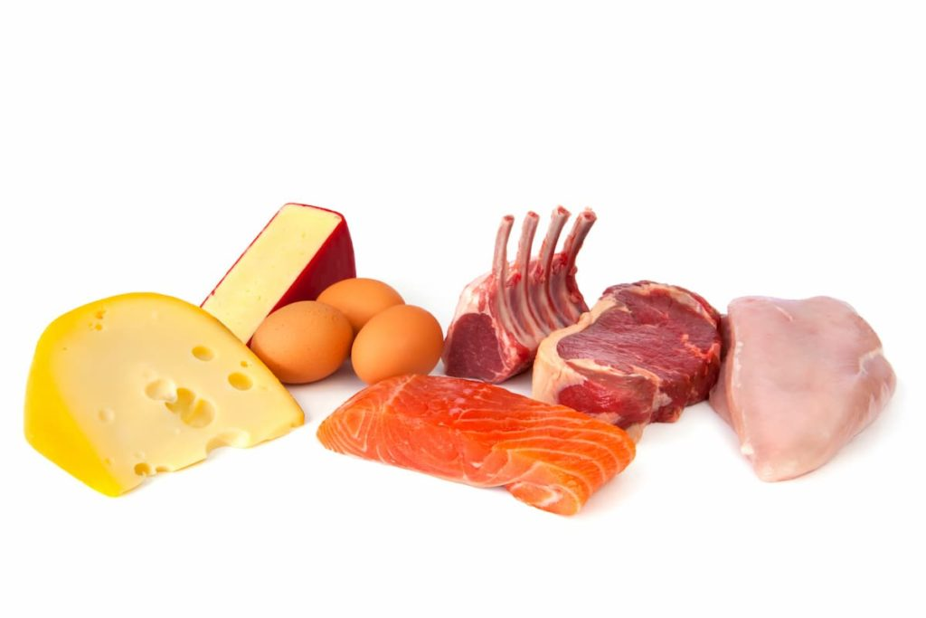Foods rich in protein, including cheese, eggs, fish, lamb, beef and chicken. How To Do a Protein Sparing Modified Fast