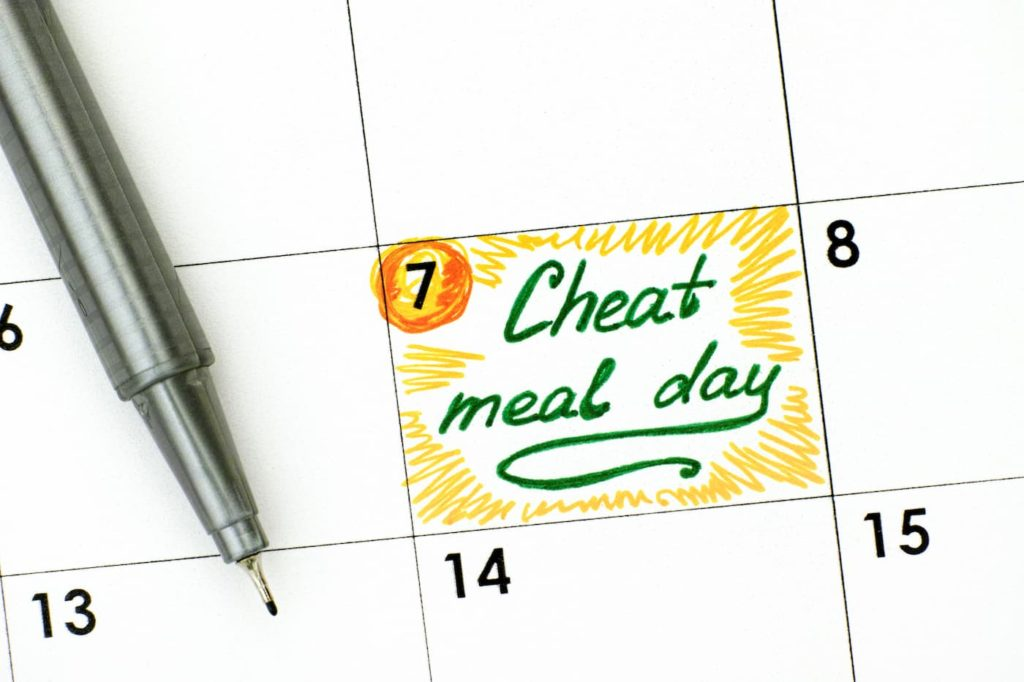 Cheat Meal Day in calendar with green pen - Carnivore Diet Cheat Days and Side Effects